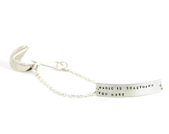 magic is something you make - fortune cookie bracelet
