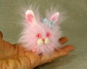 Flora the Fluffy Bunny in Your Color Choice, Made to Order
