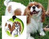 Custom Pet Portrait Ceramic Necklace YOUR PET on a Necklace!