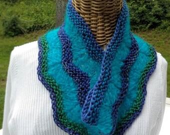 Cowl, handspun wool and mohair handknit in my own design. OOAK