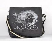 Dragon Canvas Vintage messenger bag