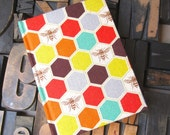 Fabric Journal Bee Pattern - Small Lined