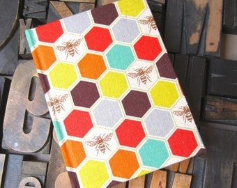 Fabric Journal Bee Pattern - Small Blank