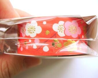 Plum Blossom Sticker Tape  Japanese Happy New Year Sticker Tape