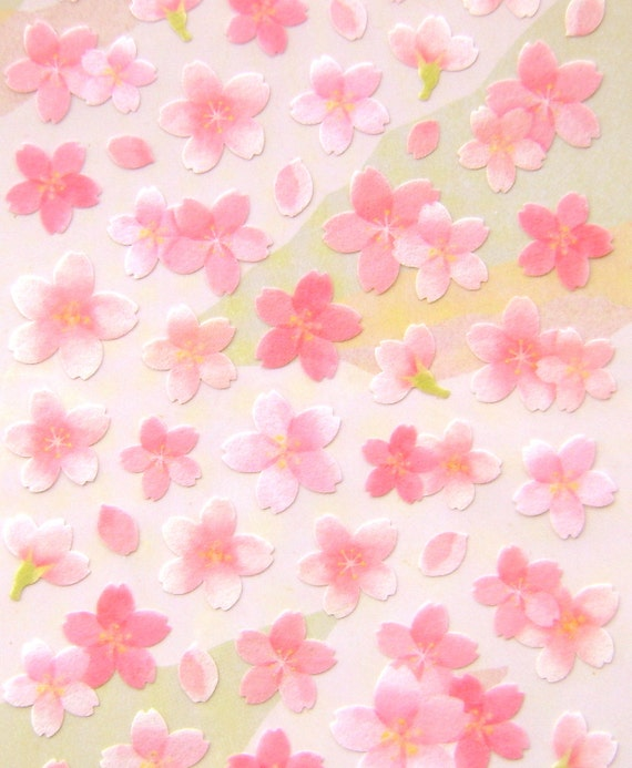 Beautiful Japanese Stickers Sakura Cherry Blossoms S52