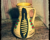 Mid Century Modern West German Ceramic Pitcher