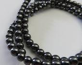 4mm Geniune Hematite Beads - Full Strand