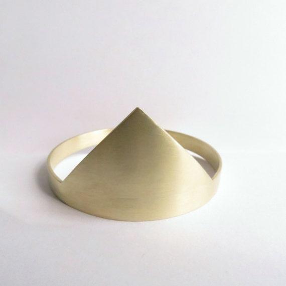 Minimalist Gold Triangular Cuff Bracelet