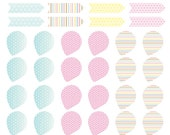 Label / Point Marker set for Filofax (or other planners) or  even scrapbook pages - Pastel Theme