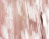 Shaken camera photo  Abstract sakura // photography / cherry blossoms / wall art  calming view