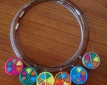 Trivial Pursuit game piece necklace - choose your colours