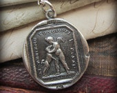 Friends for Life - Cupid and Dog Wax Seal Necklace - Friendship Necklace - Love and Friendship Jewelry - F125