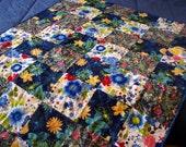 Crib Baby Lap Quilt Flowers Floral Patchwork