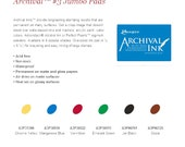 Jumbo Archival Ink Pad Ranger Industries Choose From Six Colors
