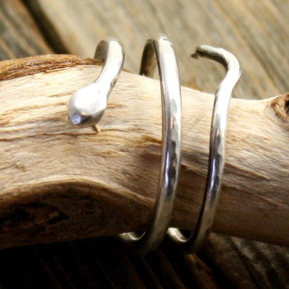 Serpent Ring in Sterling Silver
