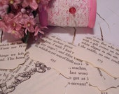 Hand Punched Vintage Paper Decorative Labels - Up-cycled From A 1955 Children's Book - Card Making - Art - Ready to Ship