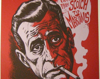 Humphrey Bogart Last Words 2 limited edition screenprint RED variant