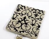 iPad Case, iPad Sleeve, iPad Air Case, iPad Mini Cover, Handmade and Padded, Custom Sizing Available - Flocked Velvet on Linen