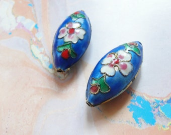 Cloisonne Beads    4pc