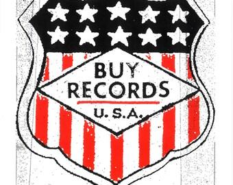 BUY RECORDS - USA  Screen Print by Print Mafia