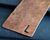 Personalized Hammered Copper Bookmark