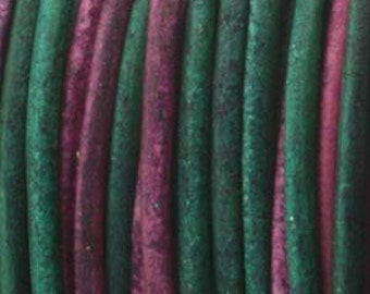 Genuine India LEATHER CORD 1.5mm Gypsy Dyed Sunset (You Pick Length) 420438