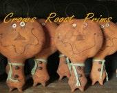 162e HALLOWEEN Primitive Pumpkin Doll epattern immediate download