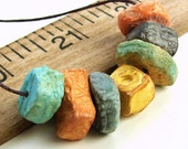 Handmade Polymer Clay Disc Beads - Porcelain Series