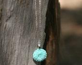 Sea Green Floral Pendant Necklace
