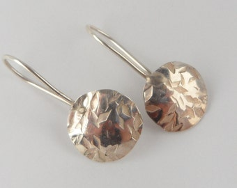 Sterling Silver Earrings with Hammered Texture - Made to Order