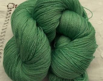 Merino- Silk Lace Yarn 100g Hand Dyed - Emerald Green
