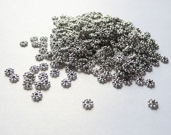 Destash Silver Plated Daisy Spacers