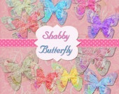 INSTANT Download Butterfly Tissue Paper Shabby Clipart Scrapbooking Digital Chic Graphics Buy 1 Get 1 Free
