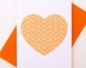 Loveheart Card - Orange Ziggy