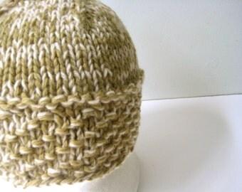 olive green wool cap mans knit khaki wool hat