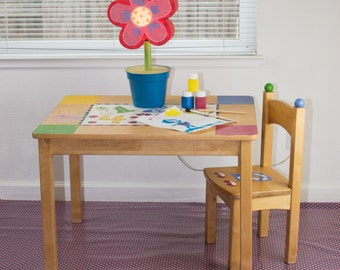 "Splat Mat/Tablecloth ""Neon Hot Pink Dots"" - Laminated Cotton BPA  & PVC Free - Choose Your Size below!"