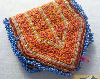 Afghanistan: Vintage Embroidered Pashtun Wallet or Pouch, Item E24