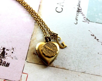 zodiac. locket necklace. choose your zodiac sign for personalization in gold ox