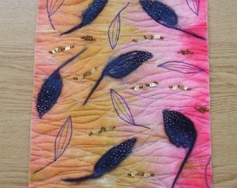 Felted Falling Leaves Artwork