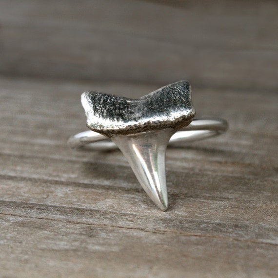 shark tooth ring solid sterling silver hawaiian jewelry