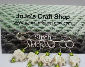 Ivory Elephant Stitchmarkers