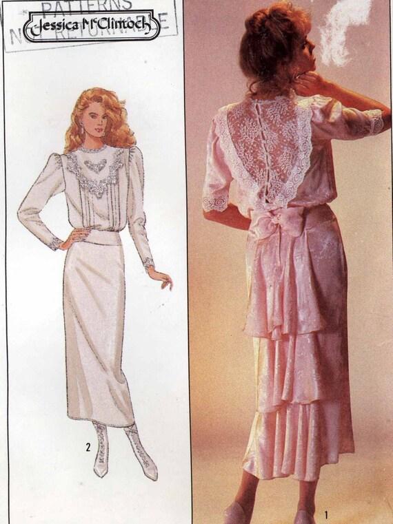 Jessica mcclintock edwardian victorian style wedding dress for Victorian style wedding dress pattern