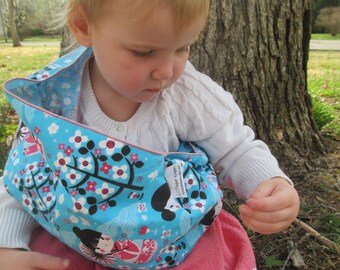 Children's Doll Pouch - Toy Sling - imaginative play, doll carrier, great big sister gift, sibling present, birthday