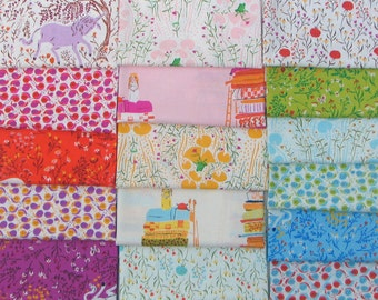Complete Far Away Reprint Collection - Heather Ross Fabric - 14 Fat Eighth + 2 Fat Quarters Bundle