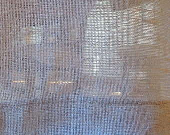 """Grey Linen Table Runner, 16"""" x 71"""", Modern Country, Rustic, Table Linens"""