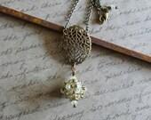 Vintage Style Beaded Bead Pendant