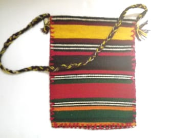 Mexican Serape Wool Vintage Purse