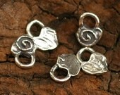 Two Itty Bitty Spiral Hearts Sterling Silver Charms