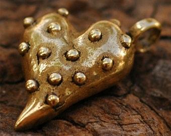 Urban Prickly Heart Pendant in Bronze, 209br