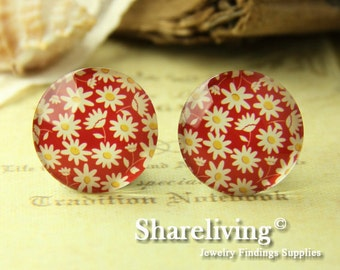 4pcs  25mm Handmade Photo Glass Cabs Cabochons -- BCH649R